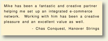 Chas Conquest of Hanover Strings says...